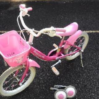 子供が使わなくなった自転車(16型 スタンドと補助輪付けます)