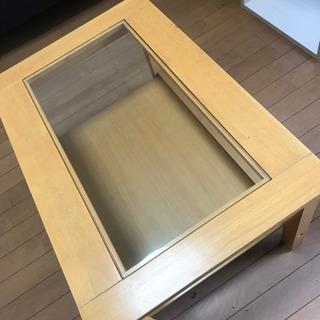 サイドテーブル 強化ガラス
