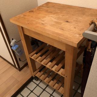 【ネット決済】IKEA★イケア★BEKVAM★キッチンワゴン★木製★棚