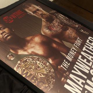 【ネット決済】UFC コナーマクレガー  メイウェザー 額縁 ポスター