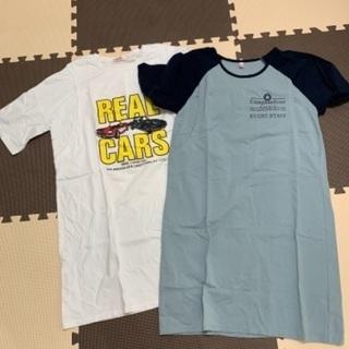 授乳服 Tシャツワンピース 2枚セット