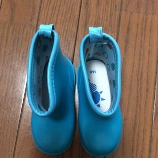 レインブーツ 長靴 14cm 青色