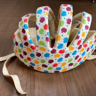 洗エルメット リンゴ柄 洗える スポンジ ヘルメット ベビー 幼児 用
