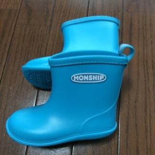 レインブーツ 長靴 15cm 青色