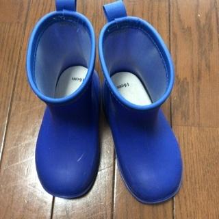 レインブーツ 長靴 16cm 青色