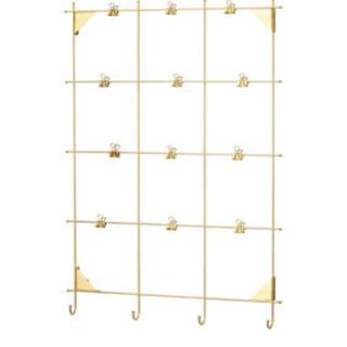 IKEA ミールヘーデン メモボード クリップ付き, 黄銅色