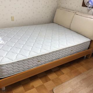 【ネット決済】(確約中)  ダブルベッド フランスベッド 小物入...