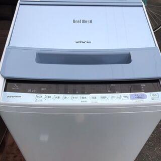 新同品!!! 2019年製!!! 7k洗濯機 日立 ビートウォシ...