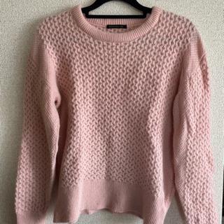 一度のみ着用 ピンクのセーター バンヤードストーム