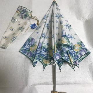 未使用 花柄 晴雨兼用折りたたみ傘