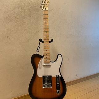 エレキギター、squier by fenderのテレキャスター