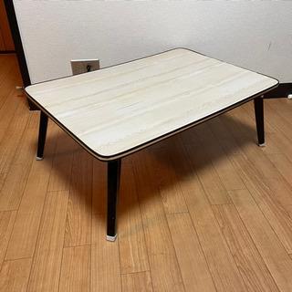 折りたたみ座卓 テーブル 約75cm x 51cm x 2…