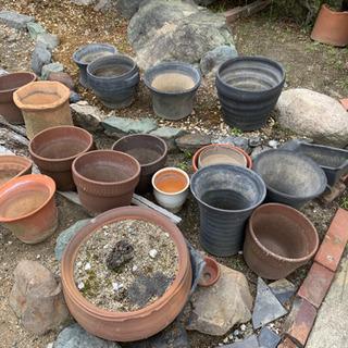 【無料】植木鉢・プランター 素焼き、瓦の植木鉢