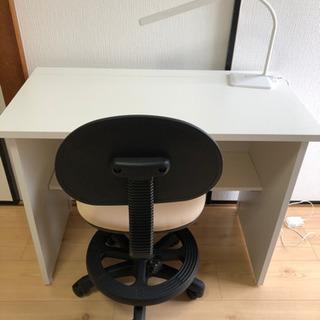 【ネット決済】折り畳みデスク 学習チェア 電気スタンド