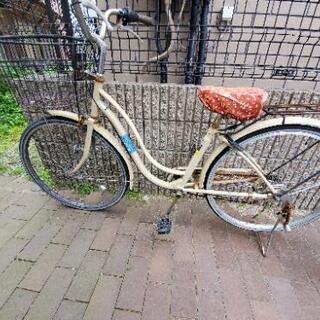 0円古い自転車パーツ取りなどにどうぞ。(防犯登録解除済み)