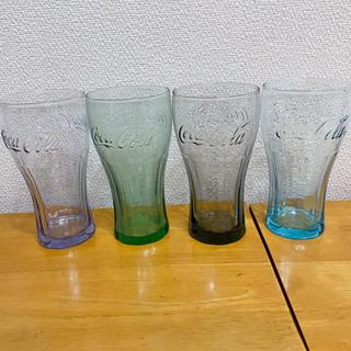 【ネット決済】コカコーラのコップ(びん)4色セット