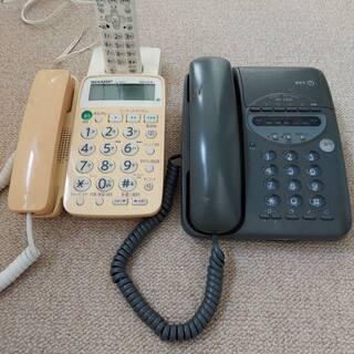 電話機2台と電話線を色々とまとめて。