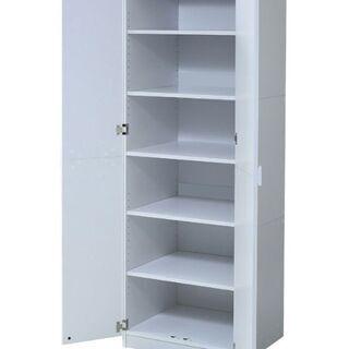 分解できる大きな収納棚 高さ調節も可能 ホワイト