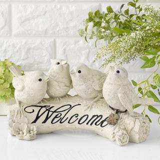 ② ♪ウエルカムバード♪ 鳥の置物 ガーデンオブジェ