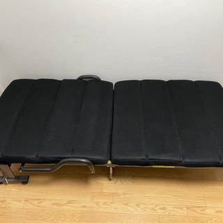 折り畳みリクライニングベット(シングルサイズ)(美品)
