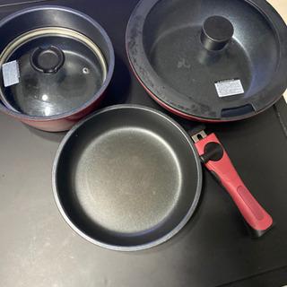 鍋、フライパン、中華鍋 親譲します