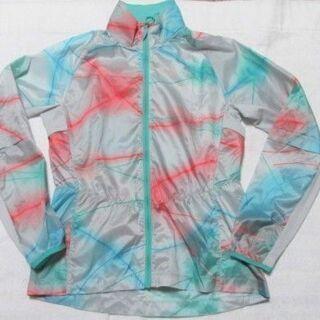 PUMA プーマ  ランニングジャケット 総柄 極薄 レディースM