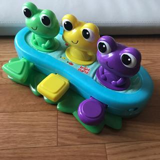 【ネット決済】半額 配色が可愛いカエルのおもちゃ