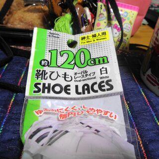 ダイソー靴ひも白120センチ【新古品】