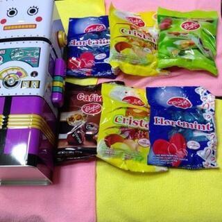 【ネット決済・配送可】キャンディ詰め合わせ  ロボット型貯金箱×...