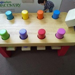 知育玩具 トンカチ WOOD BOIS WADERA 木製ハンマー遊び