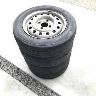 【中古】軽 タイヤホイール4本セット