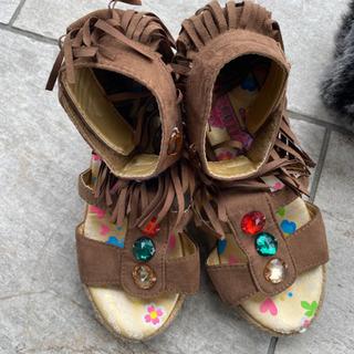 子供用靴女子