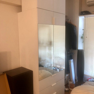IKEA プラッツァ ワードローブ クローゼット ホワイト 白 ...