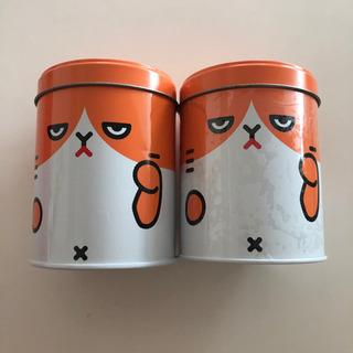 Y!モバイル 缶 約10.5cm×8cm 2つ