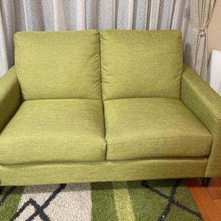 ソファ 緑色