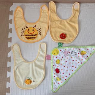 ベビースタイ 4枚セット 洗濯だけの未使用(⑅•ᴗ•⑅)◜..°♡