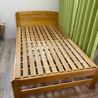 【ネット決済】ベッド 木製 セミダブル