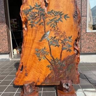 『桃舟』衝立  寸法約1,150×800×50(台約280…