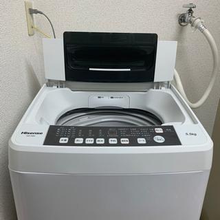 2019年製5.5kg洗濯機ハイセンス