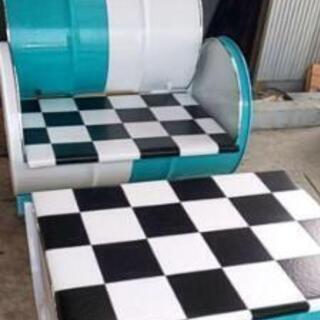 テーブル&チェアーセット ティファニーブルー×ホワイト