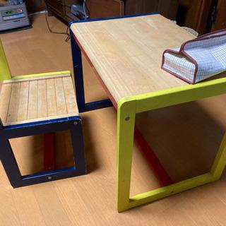 子ども用 木製の机と椅子のセット(取りに来てくださる方限定