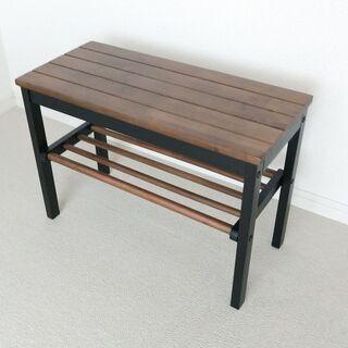 木製 スモール ベンチ  (玄関/ベランダ/サイド チェア)