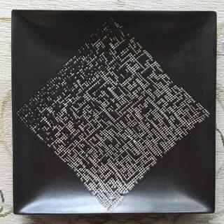 シンプル・オシャレな正方形皿2枚セット(黒)