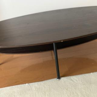 テーブル 楕円形 茶色 東京インテリア