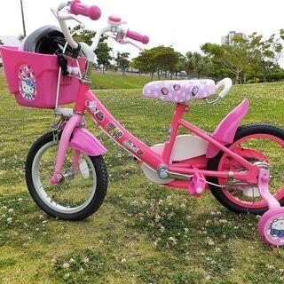 補助輪付き こども用自転車 女の子向け