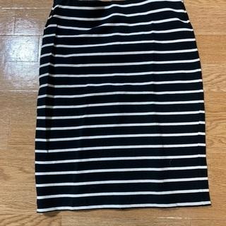 【ネット決済・配送可】スカートセット 美品 Lサイズ ボーダー