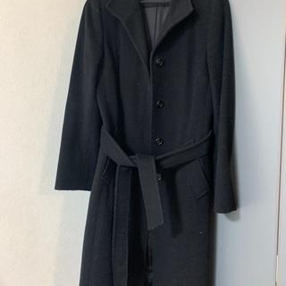 【ネット決済】黒 ステンカラーコート ICB