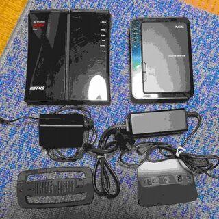 無線ルーター(有線ポートGigabit対応) ジャンク品 2個セット
