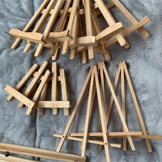 イーゼル★本立て★飾り棚★写真★12個セット★木製