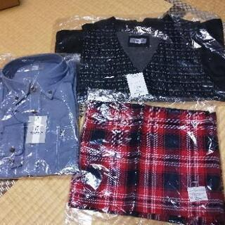 MACBETHの薄手の長袖シャツ、ベスト、マフラー